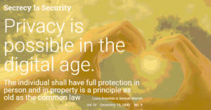 secrecy is security